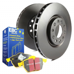 EBC brake disc and Yellowstuff pads kit Rear 256mm Vented